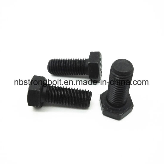 Hex Bolt DIN933 with Black/China hex bolts factory ,China hex bolts manufacturer