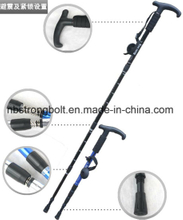 Alpenstock Outdoor Professional Aluminum Alloy Expansion Shock and Skid Resistance Walking Stick Trekking Poles