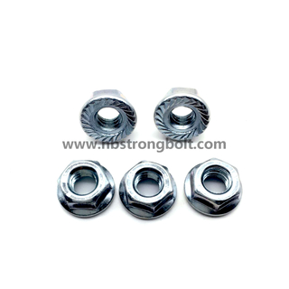 DIN6923 Hex Flange Nut Gr. 8 with Zinc/China nut factory,China hex flange nut manufacturer