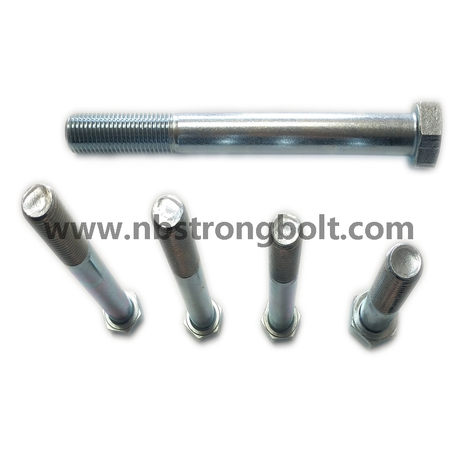 DIN931 Hex Bolt, Hex Cap Screw Gr. 10.9 White Zinc/China hex Bolt manufacturer,China bolts factory,China hex bolts factory