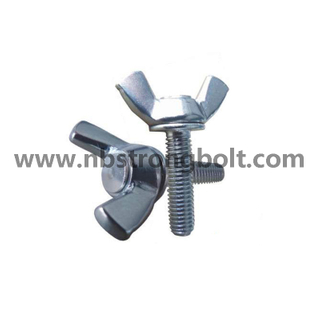 DIN316 Wing Screw with White Zinc Plated Cr3+ Carbon Steel / Stainless Steel/China wing screw factory ,China screw manufacturer