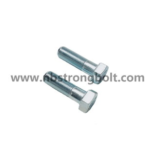 DIN960 Hex Bolt With Fine Pitch Thread Zinc/China hex bolt factory,China bolt manufacturer