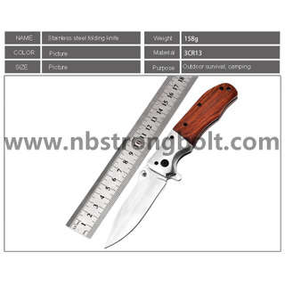 Stainless steel folding knife