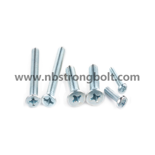 Ph Cross Recessed Raised Cheese Head Screws with Zp/China screw factory,China manchine screw manufacturer