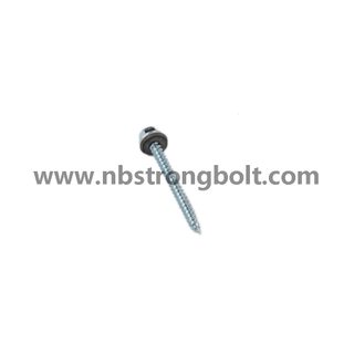 "Hex Washer Hight Head Shoulder Under Head Post Ame Screws Type 17 Cut Point Assembled with Bonded Washer, C1022 Steel. Zp #9-15X1.1/2""/China self drilling screw factory,China screw factory"