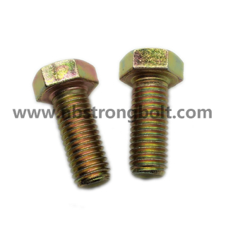 Hex Bolt DIN933 Cl. 8.8 with Yellow Zinc Plated、China hex Bolt manufacturer,China bolts factory,China hex bolts factory