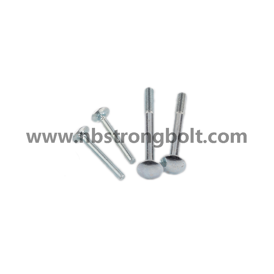 Round Head Square Neck Bolts, Mushroom Head Square Neck Bolts DIN603 Gr. 4.8 M6X55/China carriage bolt factory,China carriage bolt manufacturer,China din603,DIN603