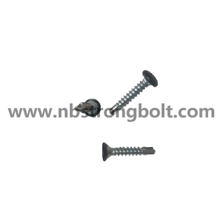 Countersunk Head Self Drilling Screw With RAL 9017 Head Painted