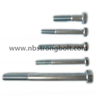 Hex Bolt DIN931 Cl. 5.8\China hex bolts factory ,China hex bolts manufacturer