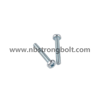 DIN7985 Zin Cr3+ Ph Cross Recessed Raised Cheese Head Screw/China screw factory,China screw manufacturer