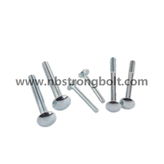 Round Head Square Neck Bolts, Mushroom Head Square Neck Bolts DIN603 Gr. 4.8 M10X55/China carriage bolt factory,China carriage bolt manufacturer