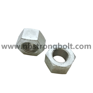ISO4032 Hex Nut CL.10 6H With HDG/China customized nut factory China custonmized nut manufacturer