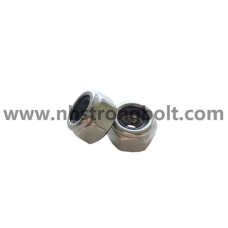 Metrick Blue Hex Nylon Lock Nut DIN982 Stainless Steel M10/China nut factory,China hex nut manufacturer